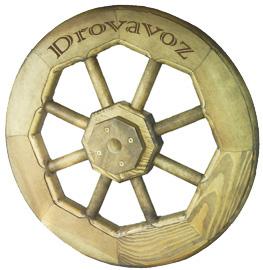 декоративное деревянное колесо