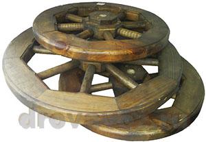 колесо деревянное от телеги