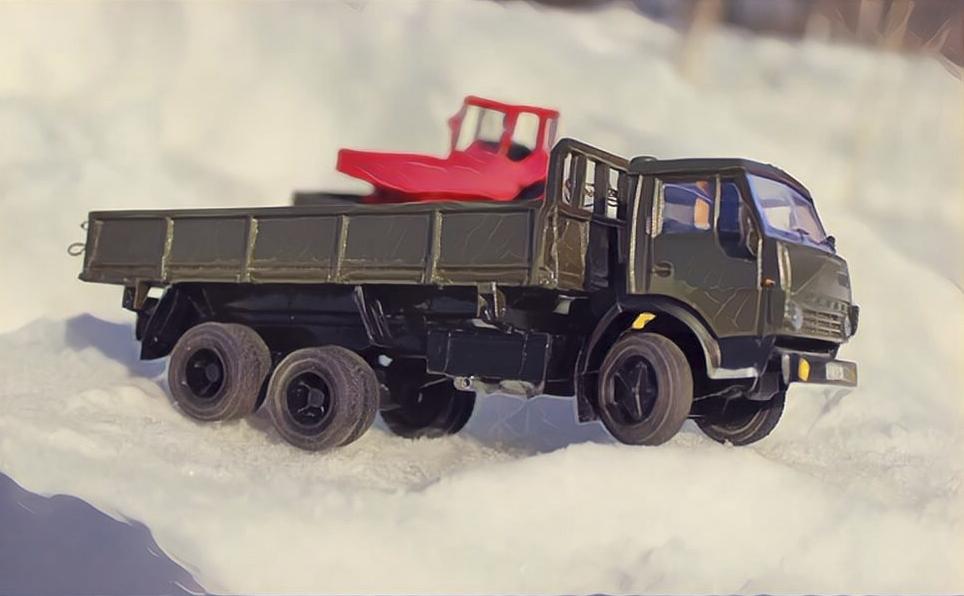 КАМАЗ 55102 - настоящий трудяга.